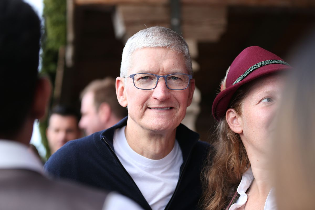 Apple CEO Tim Cook at Oktoberfest 2019 in Germany.