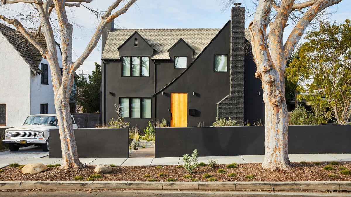 Black Modern Home Exterior