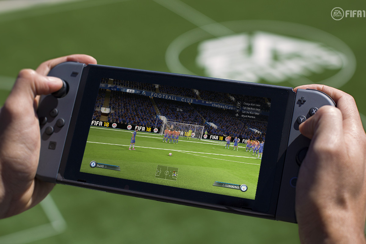 FIFA 18 on Nintendo Switch - hands on undocked unit