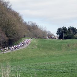 Rolling hills at the Flèche Wallonne