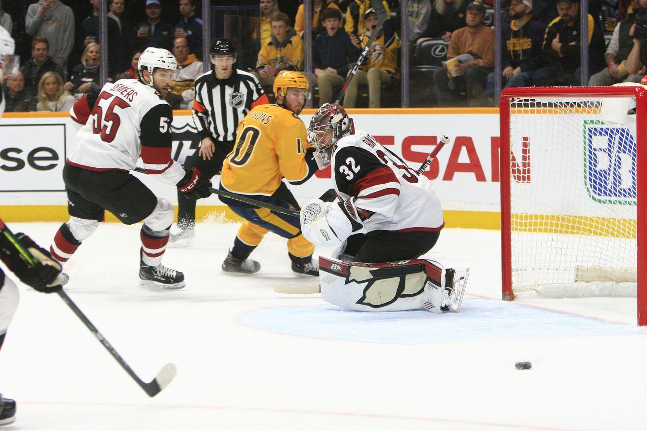 NHL: DEC 23 Coyotes at Predators