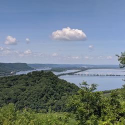 View from the bluffs near Trempeleau and Perrot State Park, wisconsin