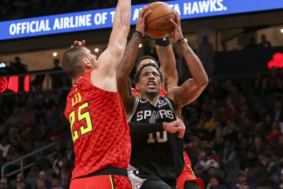 NBA: San Antonio Spurs at Atlanta Hawks