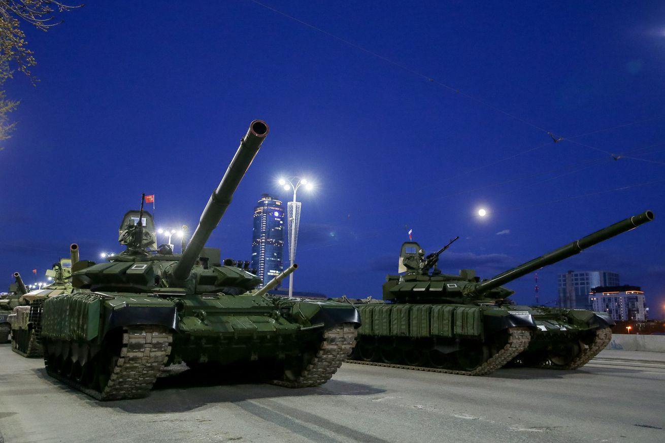 Central Military District holds Victory Day parade rehearsal in Yekaterinburg, Russia
