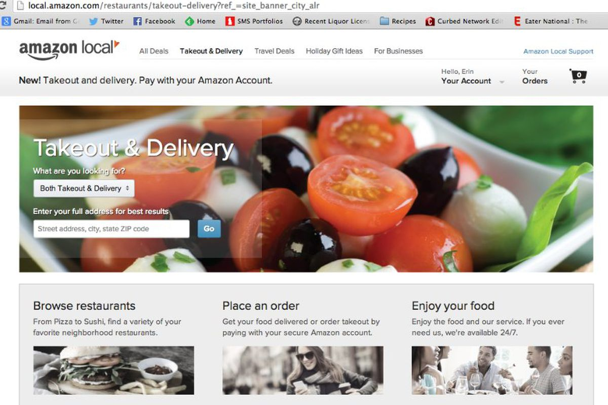 Amazon Launches Restaurant Takeout Delivery Service In Seattle Eater