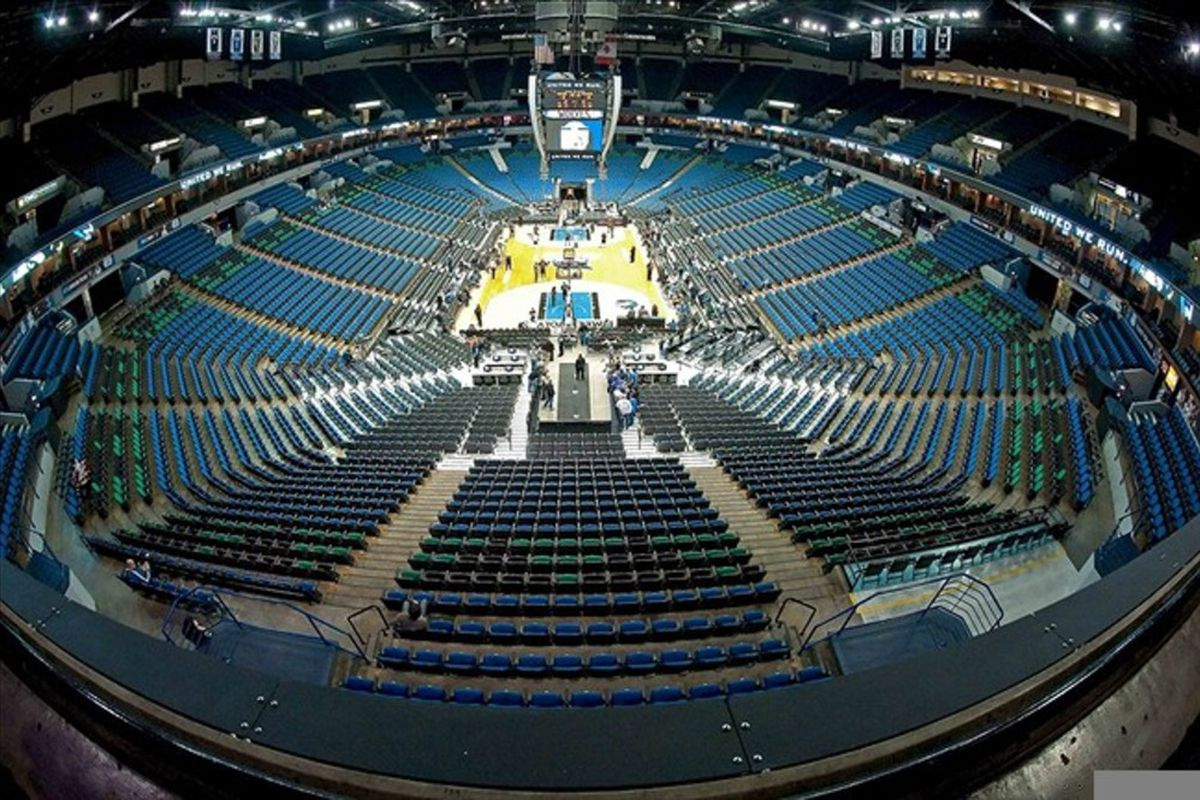 Mar 7, 2012; Minneapolis, MN, USA; A general view of Target Center prior to the Portland Trail Blazers facing the Minnesota Timberwolves. Mandatory Credit: Greg Smith-US PRESSWIRE