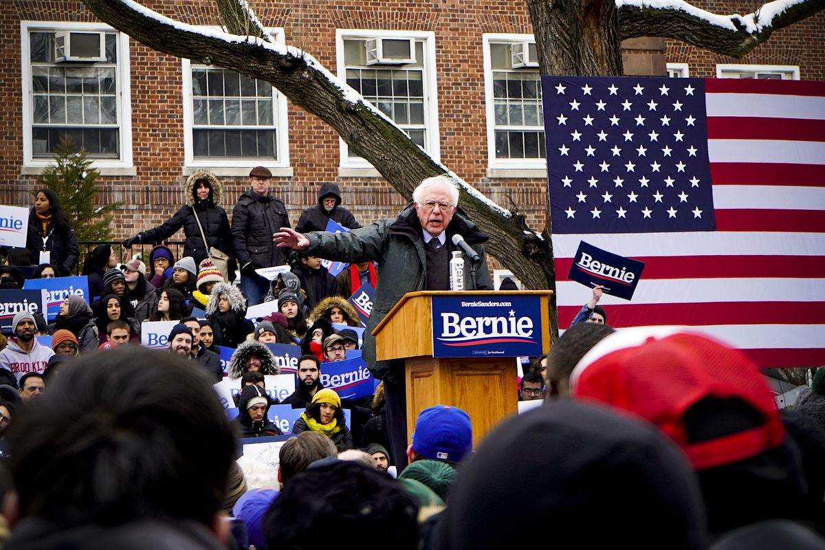 Sen. Bernie Sanders launched his 2020 presidential campaign at his alma mater, Brooklyn College, in his hometown of Brooklyn, New York on March 2, 2019.