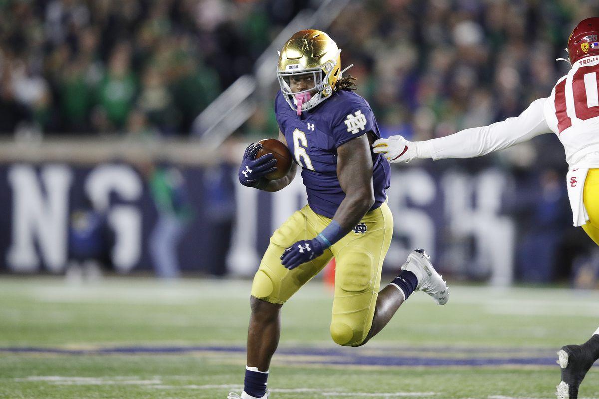 Nfl Draft 2020 A Look At Notre Dame Rb Tony Jones Jr One Foot Down