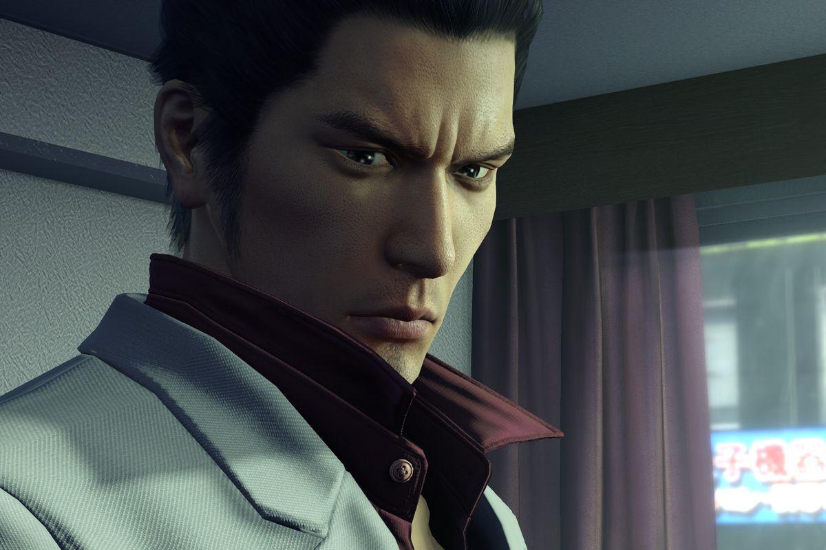 A close up shot of Kazuma Kirya from Yakuza Kiwami