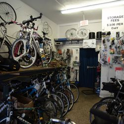 Bicycle Clinic in the South Shore. | Colin Boyle/Sun-Times
