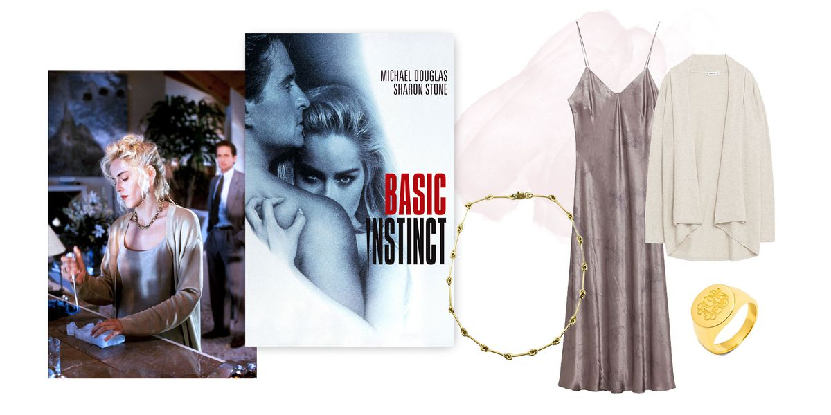 A collage of clothing inspired by the movie Basic Instinct