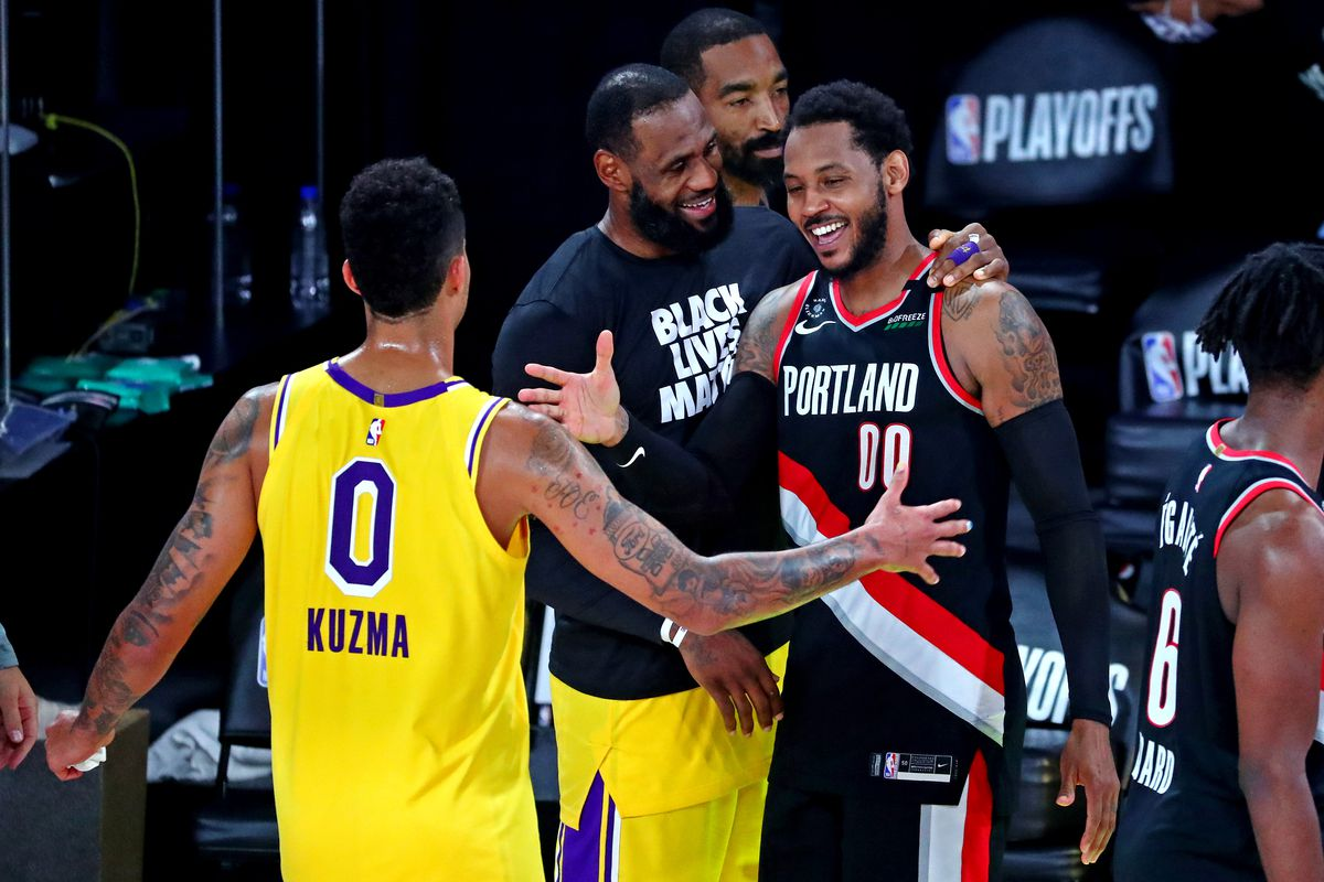 NBA: Playoffs-Portland Trailblazers at Los Angeles Lakers