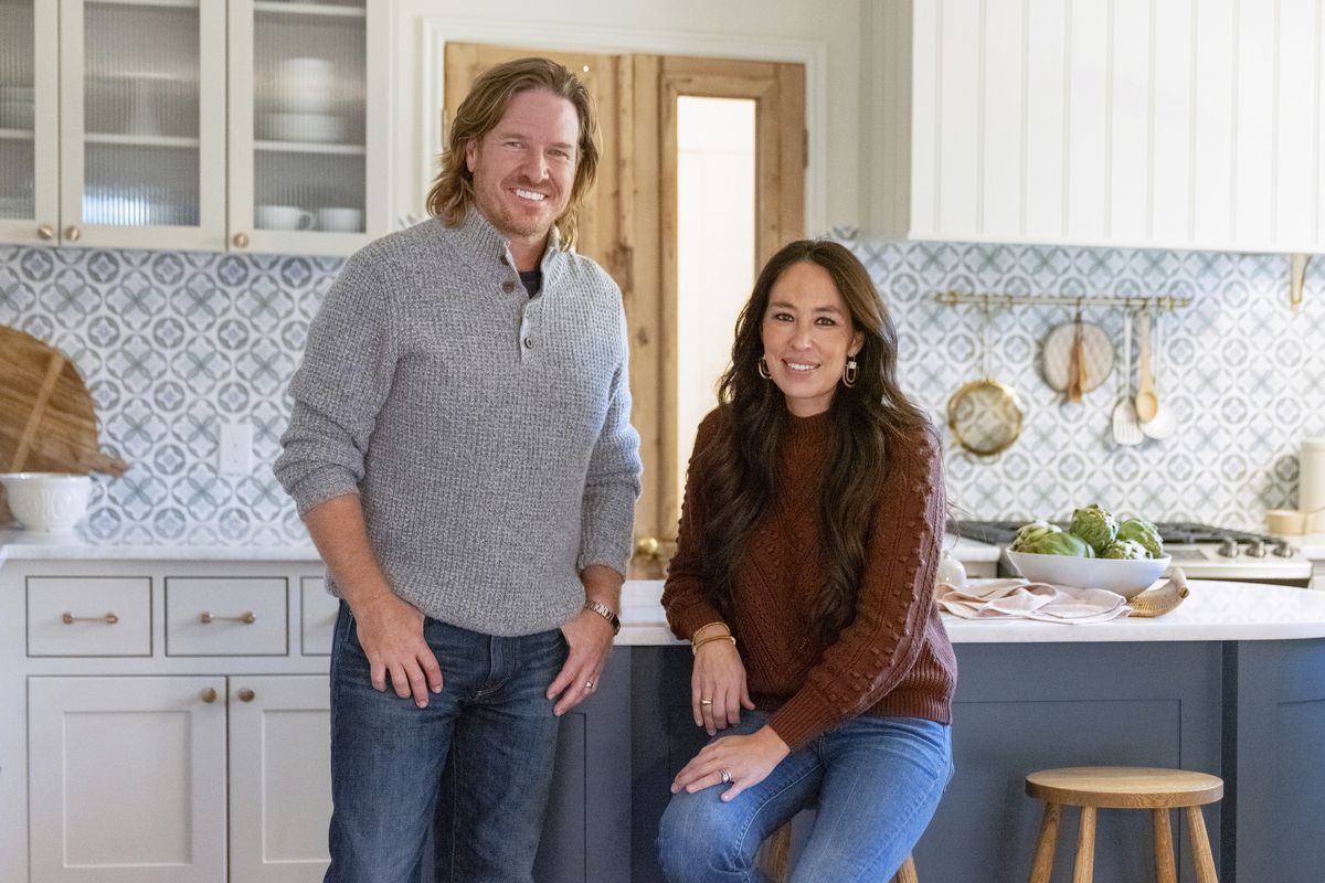 """Chip and Joanna Gaines are pictured in the sixth season of """"Fixer Upper."""" Magnolia Network, a joint venture between the Gaines' and Discovery, Inc. will launch in 2022."""