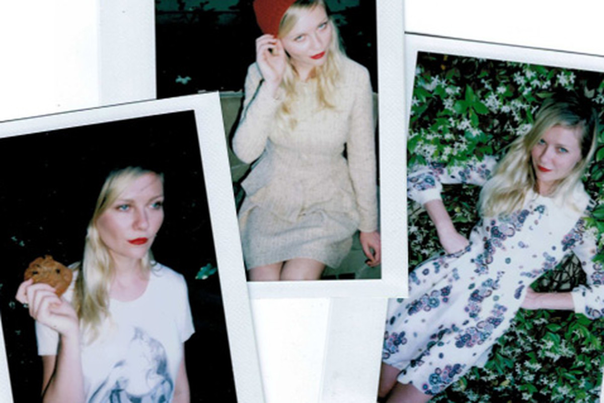 """Image via <a href=""""http://www.style.com/stylefile/2013/05/kirsten-dunst-gets-personal-in-wrens-new-capsule-collection/"""">Style.com</a>"""