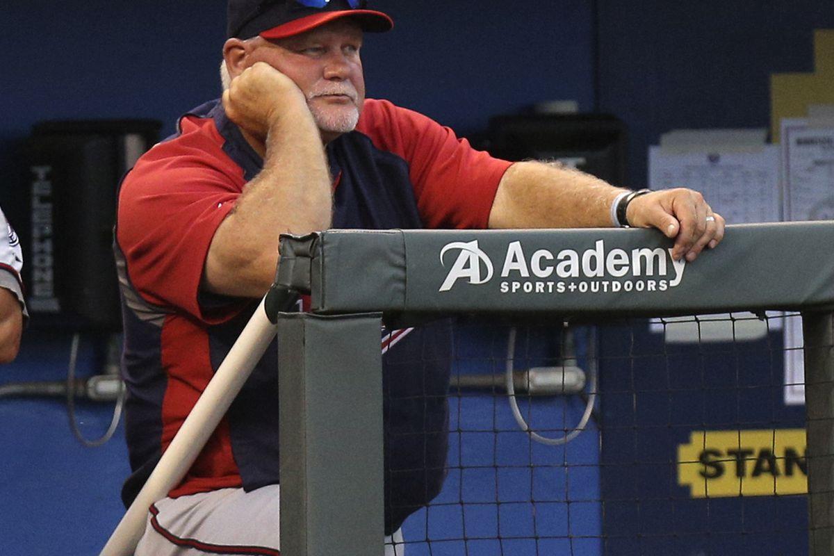 "Gardy watches as the Twins ""play baseball"" at Kauffman Stadium."