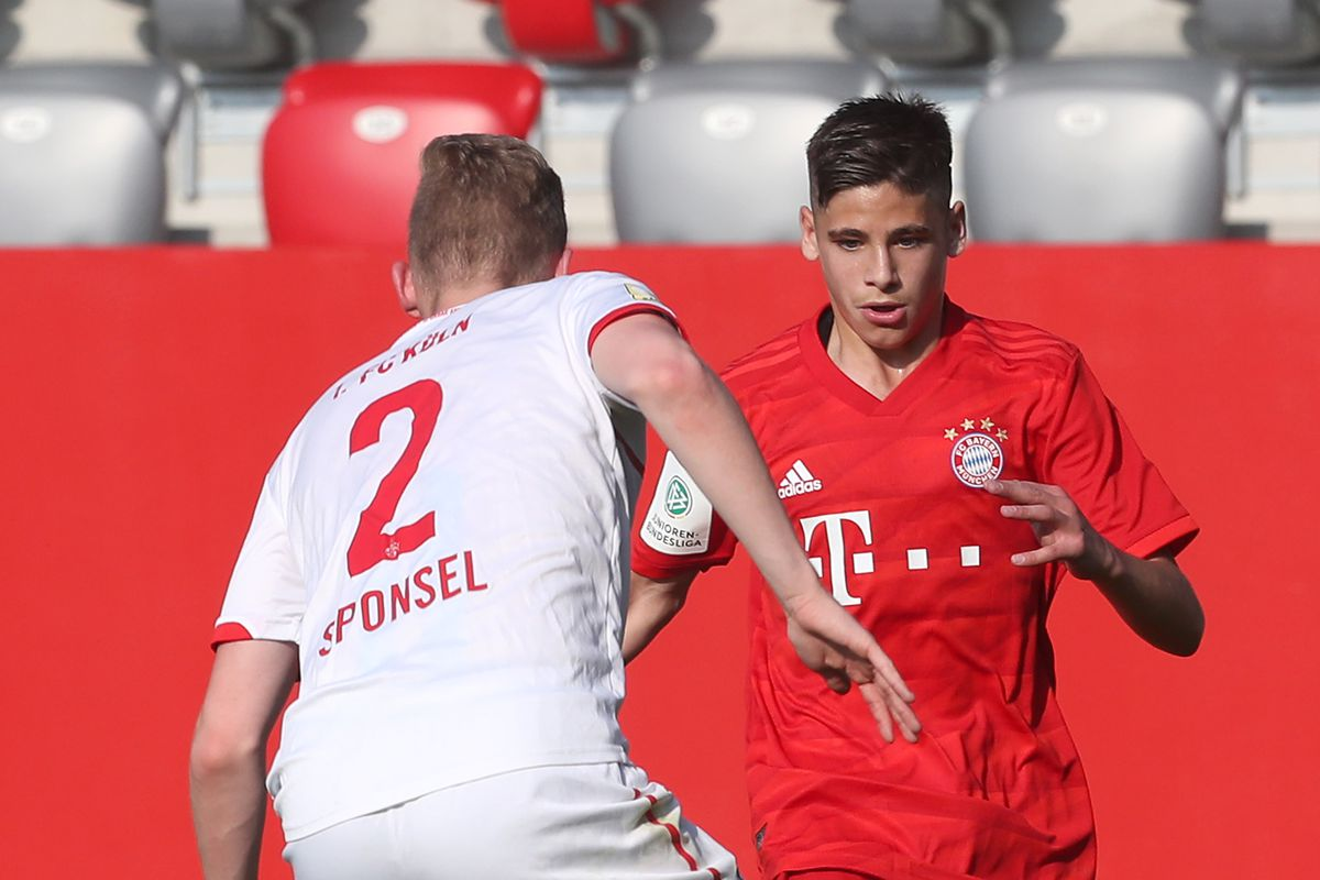 FC Bayern Muenchen U17 v 1. FC Koeln U17 - B Juniors German Championship Semi Final Leg One