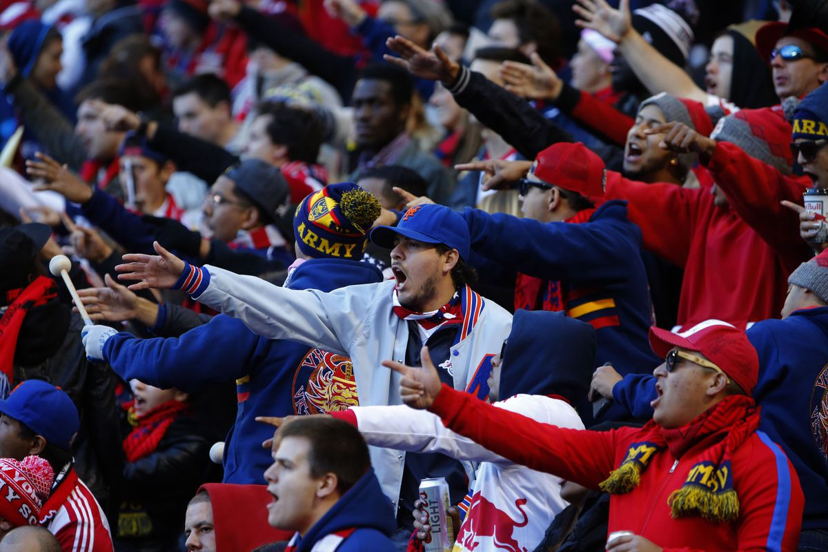 New York fans show their displeasure at being so handily beaten by the Philadelphia Union.