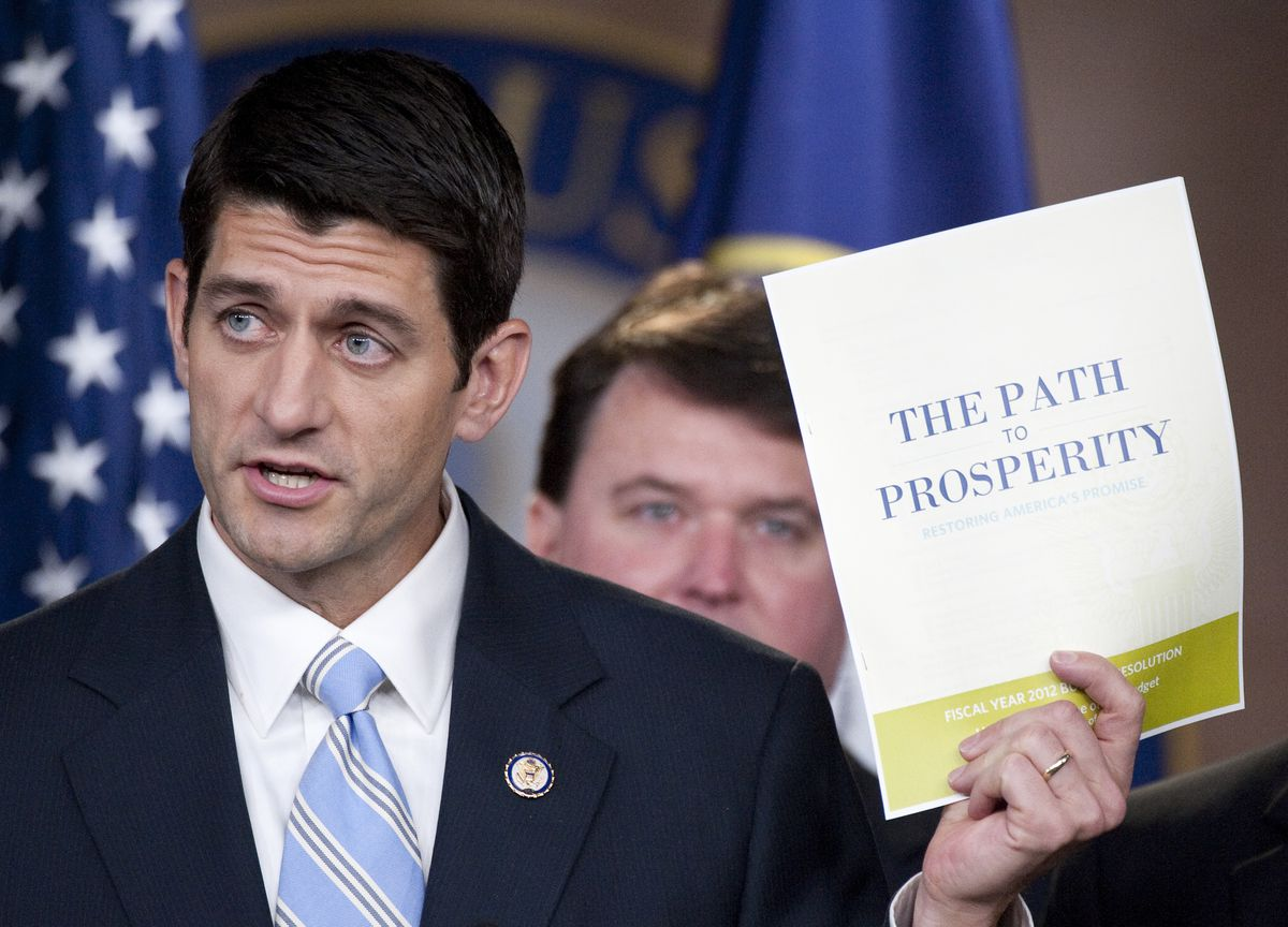 Paul Ryan with a piece of paper