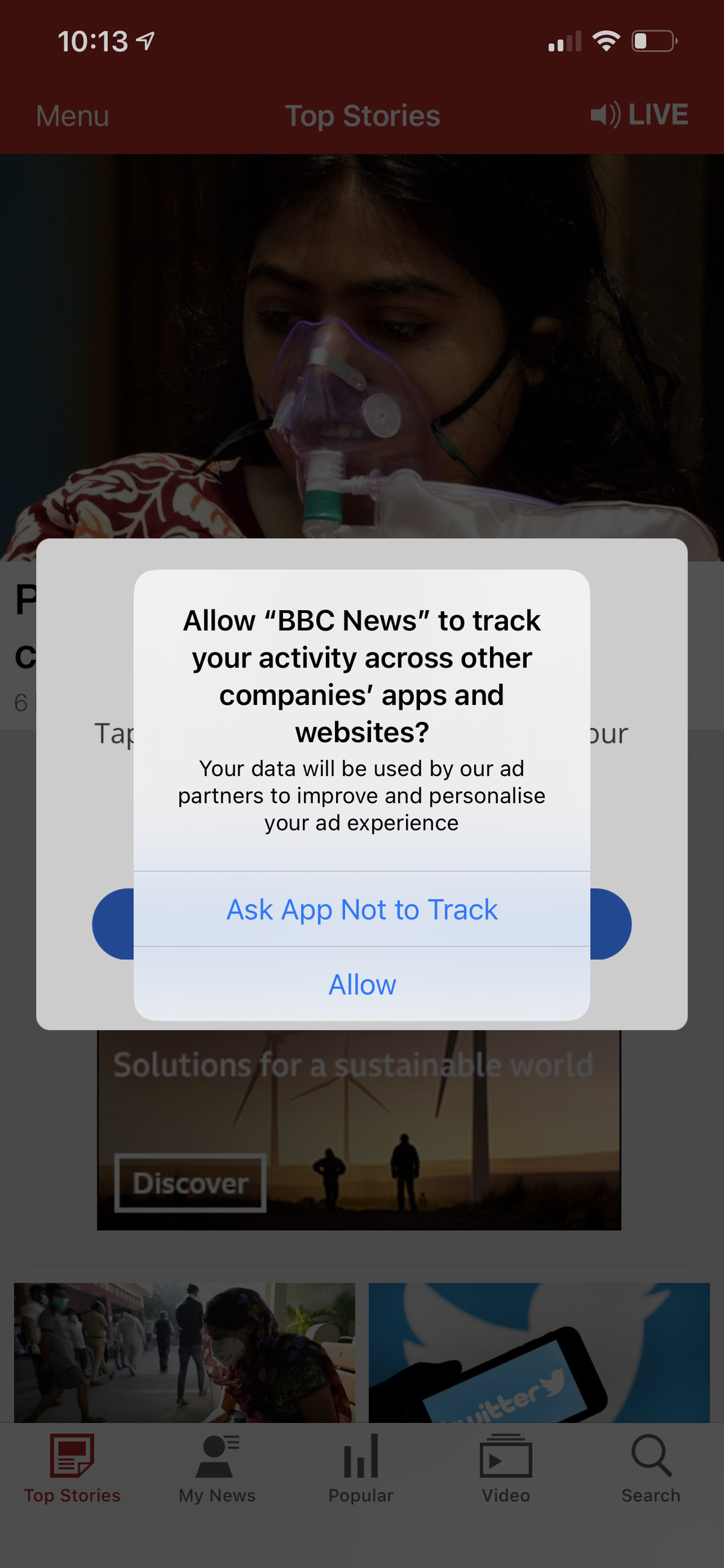 It's up to you now whether to allow each app to track you or not.