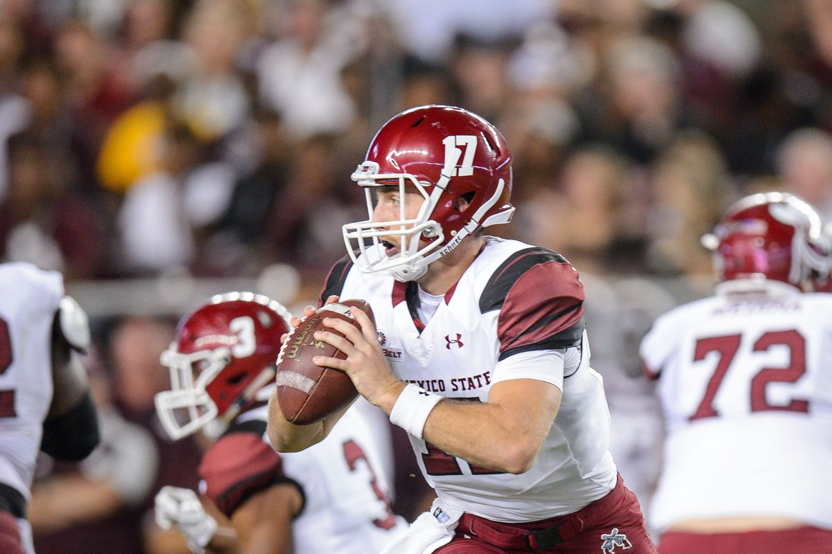 """<p zoompage-fontsize=""""15"""" style="""""""">NCAA FOOTBALL: OCT 29 New Mexico State at Texas A&amp;M"""