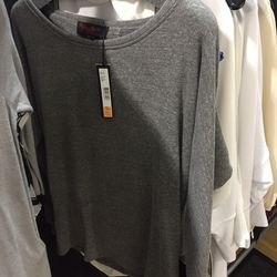 Gray long sleeve top, $59 (was $128)