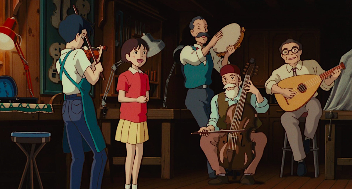 country roads in whisper of the heart