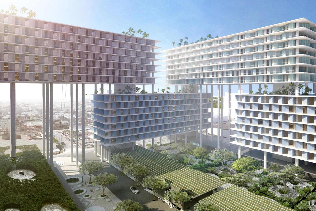 bjarke ingels designs stilt supported megadevelopment for miami curbed miami. Black Bedroom Furniture Sets. Home Design Ideas