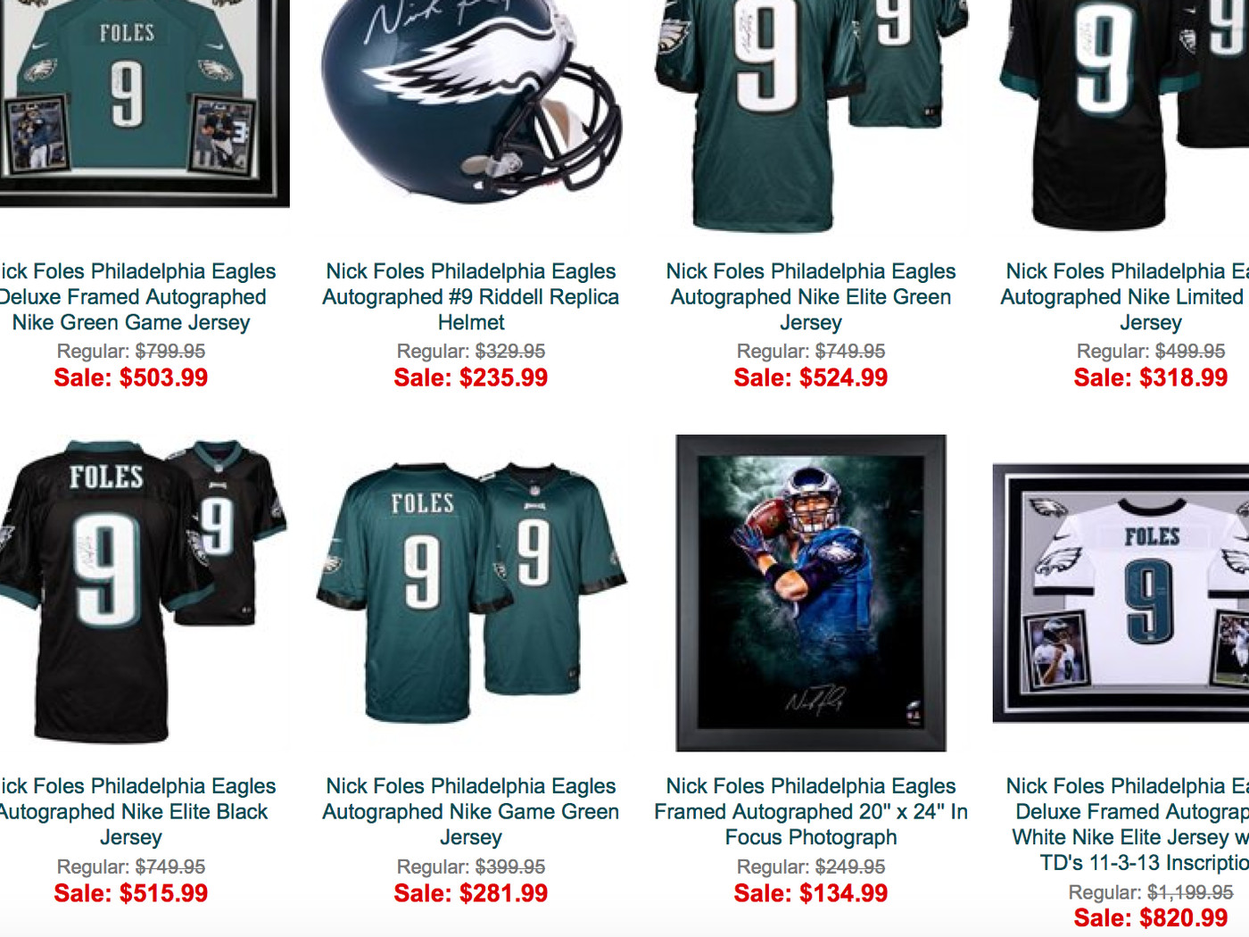 best sneakers 7c2d1 28d55 Why is all Nick Foles autographed merchandise on sale at the ...