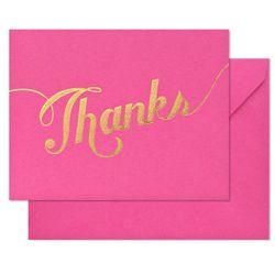 Gold Foil single Thank You card, $2 (Orig. $6)