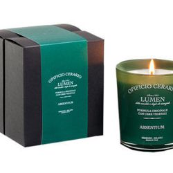 """<span class=""""credit""""><b>Opificio Cerario</b> Absinthe Candle at <b>Officina 189</b>, <a href=""""http://www.officina189.com/shop/scented-candle-absinthe/"""">$46</a></span><p>"""