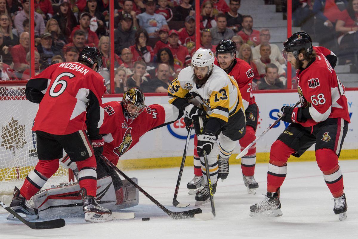 NHL: Stanley Cup Playoffs-Pittsburgh Penguins at Ottawa Senators