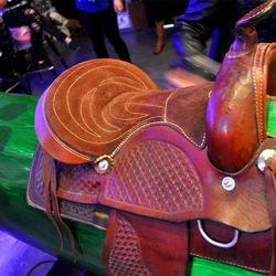 The saddle on the mechanical pickle.