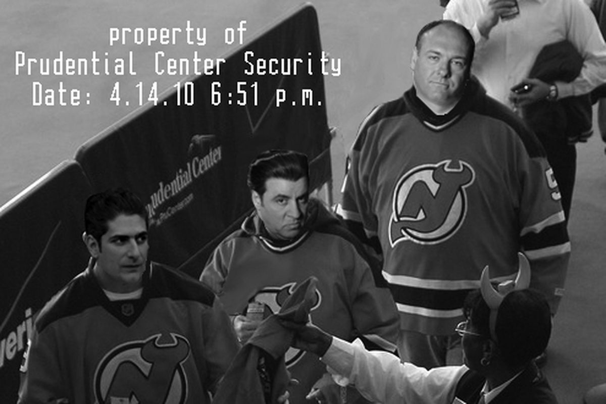 """File footage of some of the men believed to be the Devils' new """"business"""" partners."""