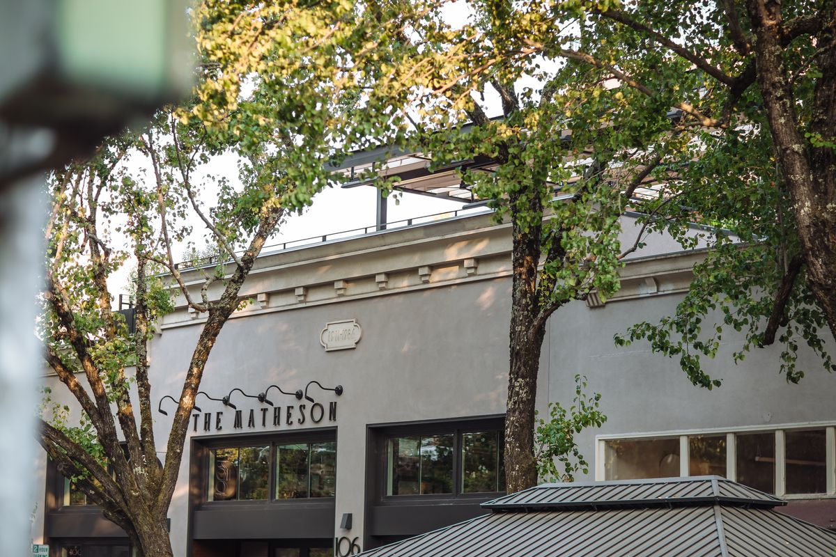 The exterior of the Matheson in downtown Healdsburg