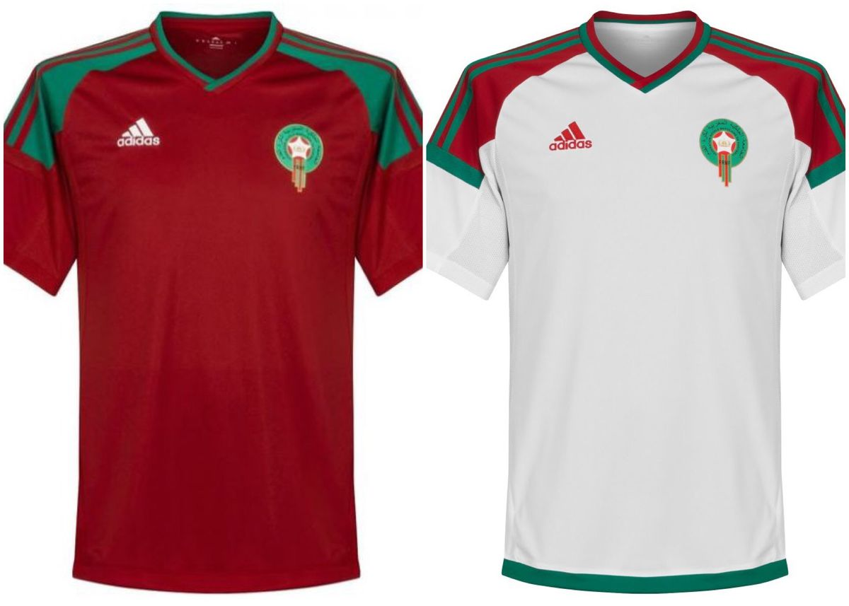 This jersey set strikes me because of the red-green color combination 47e84627f