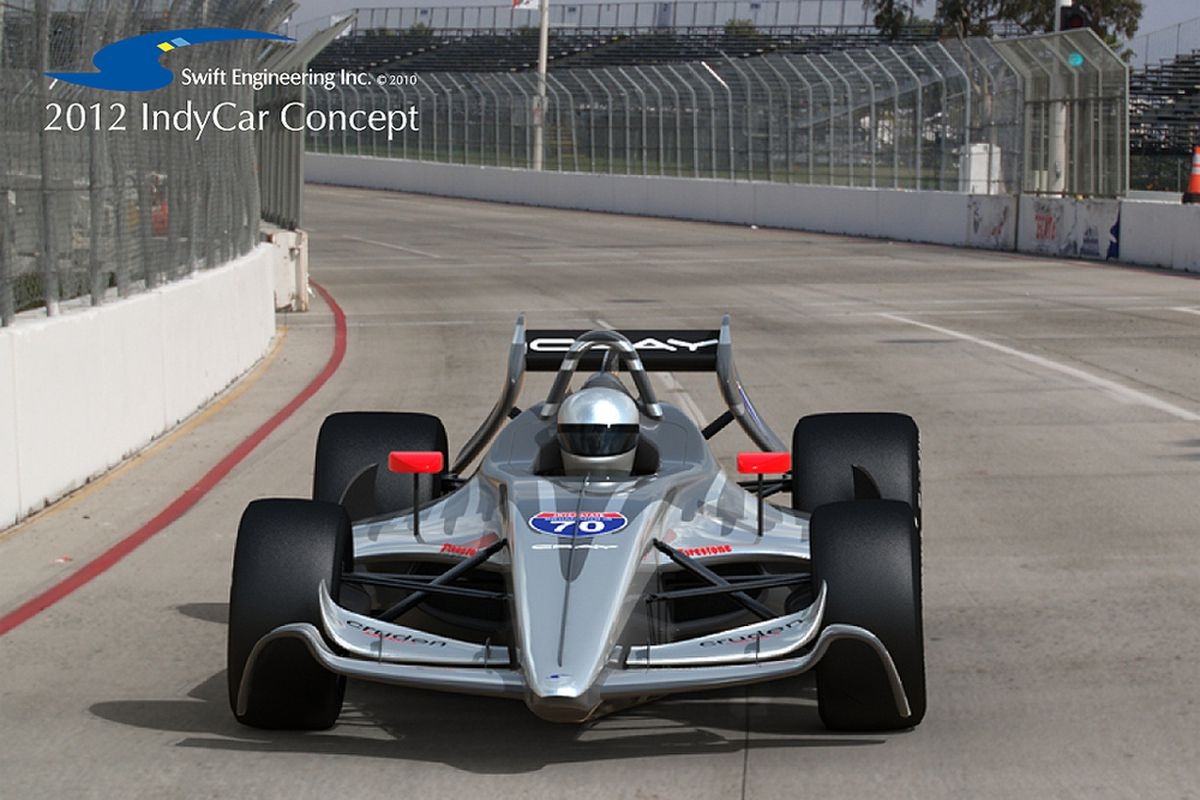 """The """"Road to Indy"""" Swift concept #70, the latest of several 2012 IndyCar concepts from the manufacturer. The ICONIC advisory panel is due to issue its chassis recommendation by June 30. (Photo: Swift Engineering)"""