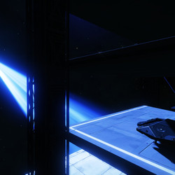 Sadly, there's no proper docking facility at the tourist installation inside HR 6164. Players have taken to just sort of parking on the side of the superstructure, a la Han Solo in <em>The Empire Strikes Back</em>.