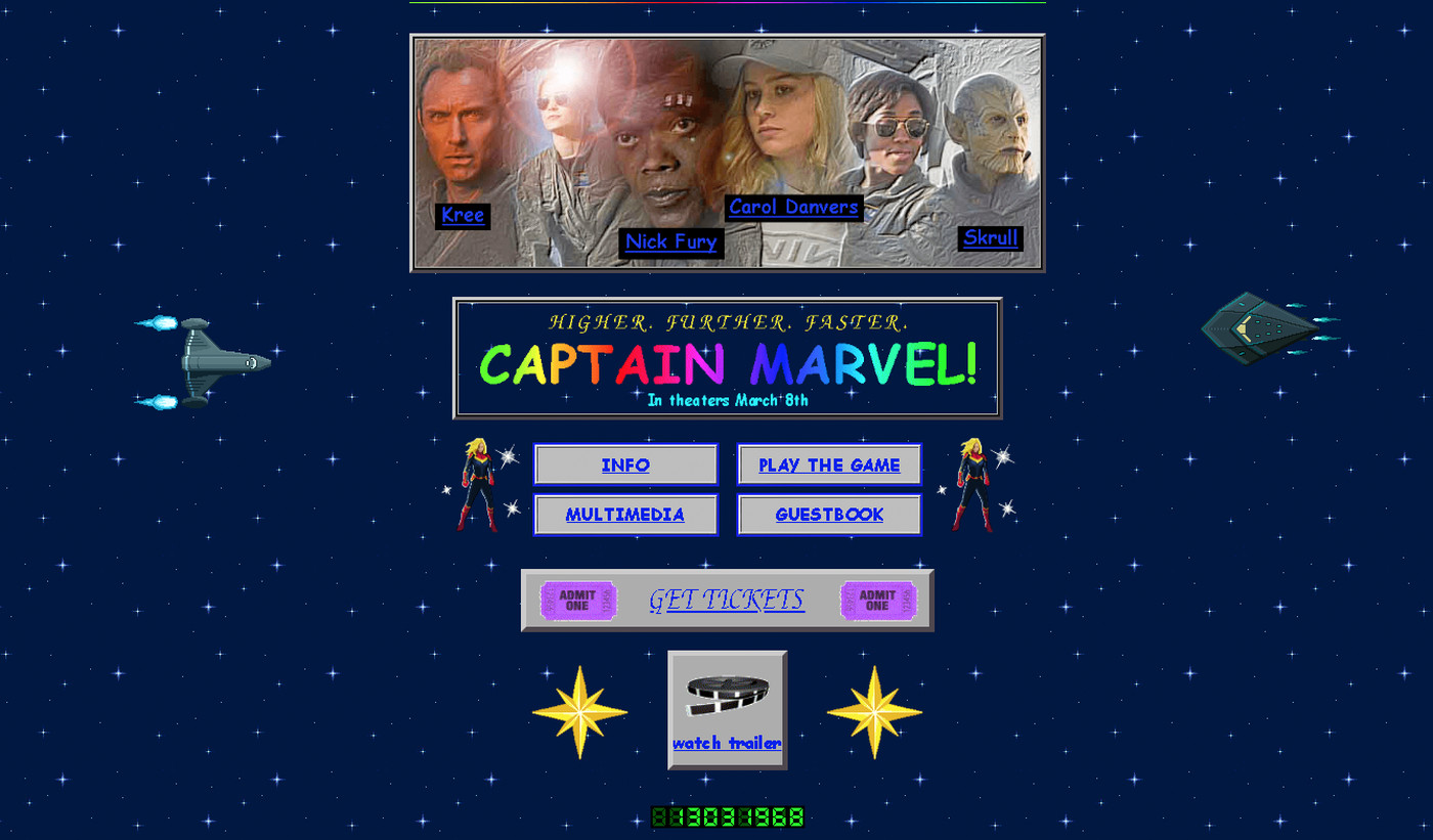 Marvel launched a delightful, retro website to promote Captain
