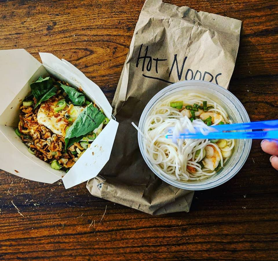 """""""Hot noods"""" from Nightshade Pop Up at Buenas"""