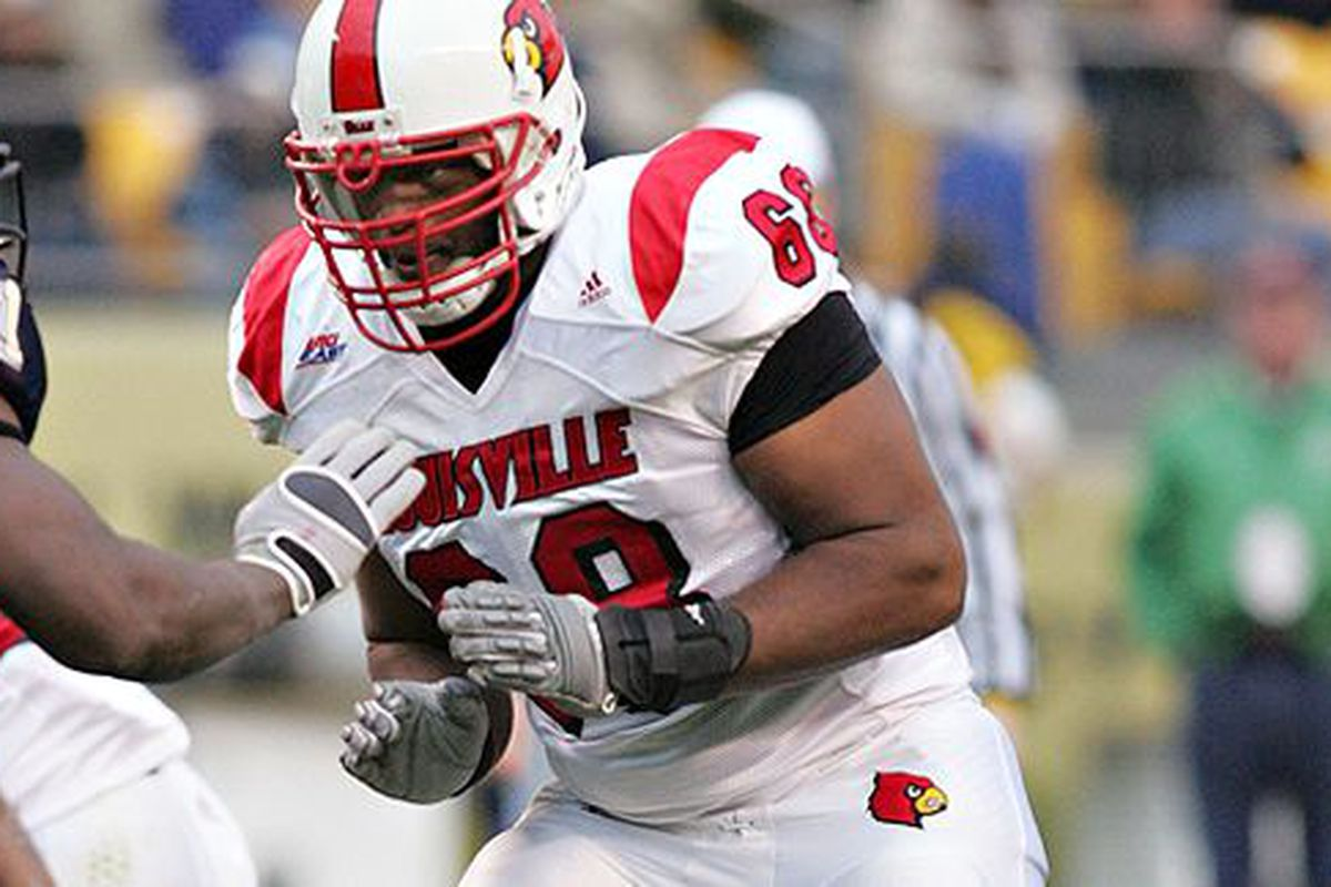 With the 170th pick, the New England Patriots select OL George Bussey, Louisville