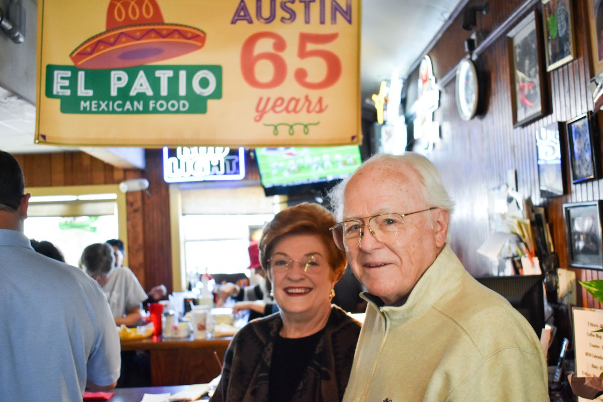 Paul Crocker with his wife at the El Patio anniversary