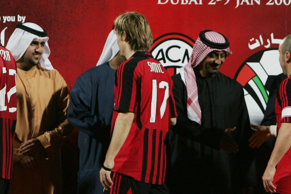 From L to R: AC Milan's Kakai, Dario Sim