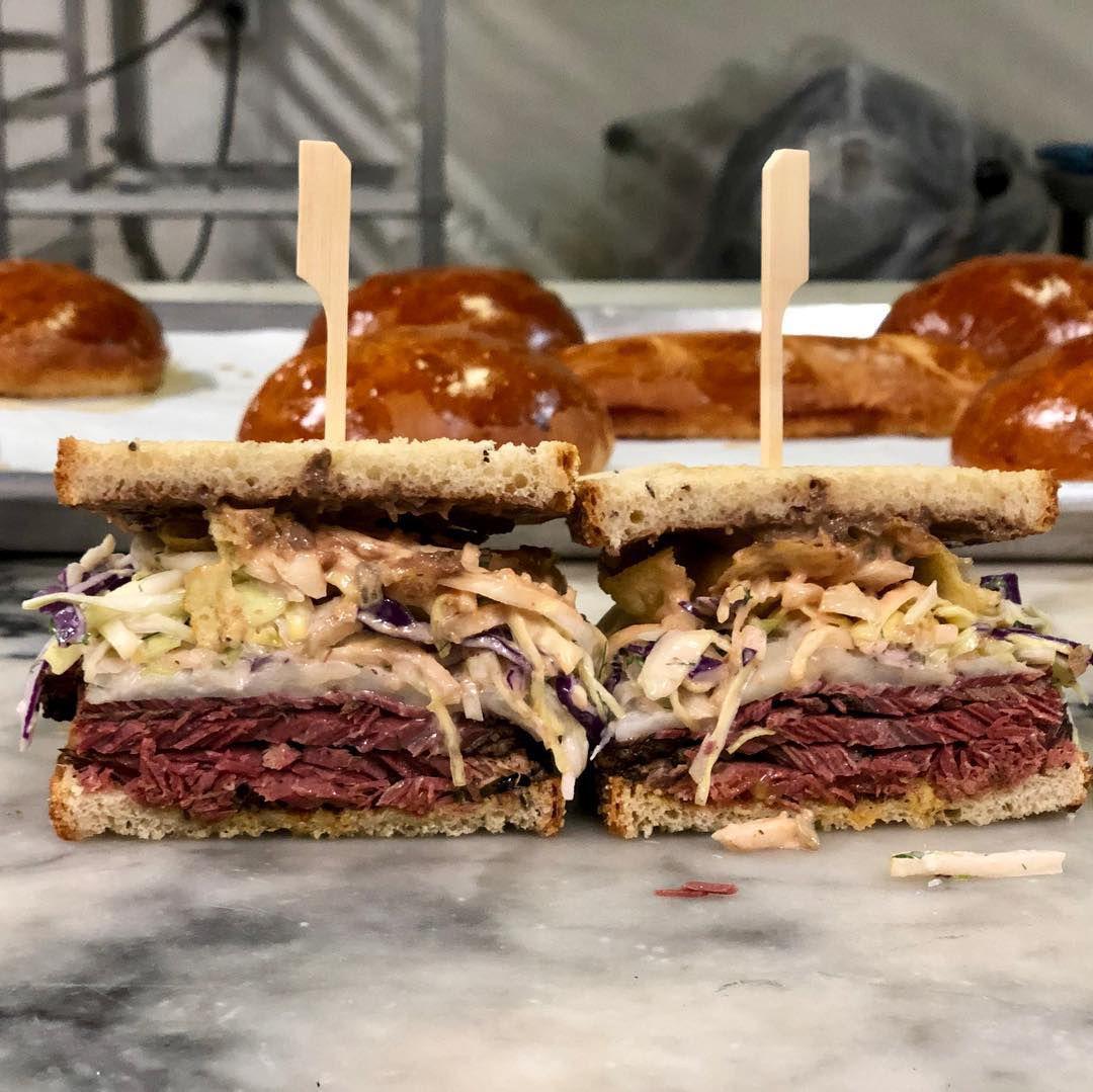 A reuben sandwich at Schmaltzy's Delicatessen