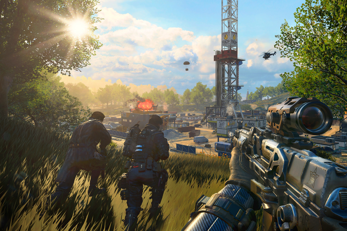 Nuketown is coming to Call of Duty: Black Ops 4 on PS4 - Polygon on commander keen 4 maps, modern warfare maps, battlefield 4 maps, midnight club 4 maps, black ops maps, gears of war 4 maps, call of duty 3 maps, call of duty: roads to victory, call of duty zombie maps, sins of a solar empire maps, assassin's creed 4 maps, call of duty all maps, call of duty waw maps, super smash bros 4 maps, call of duty uo maps, fallout 4 maps, advanced warfare maps, call of duty 2 maps, call of duty ghosts maps, call of duty world at war maps,