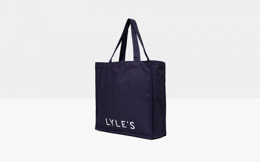 Michelin-starred restaurant Lyle's in Shoreditch sells a very nice navy totebag
