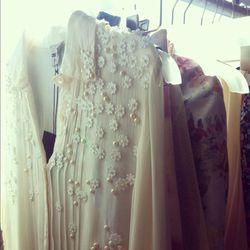 Delicate floral appliqué chiffon blouse