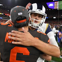 September 2019: In Week 3, the Browns were on Sunday Night Football for the first time in a decade, hosting against the Los Angeles Rams. It was one of Cleveland's best defensive games of the year, as they led 6-3 at the half. Rams WR Cooper Kupp shook free for two touchdowns in the second half; with the score 20-13, the Browns had a 1st-and-goal at the 4 yard line in the final minute. They couldn't get in, dropping to 1-2 on the year.