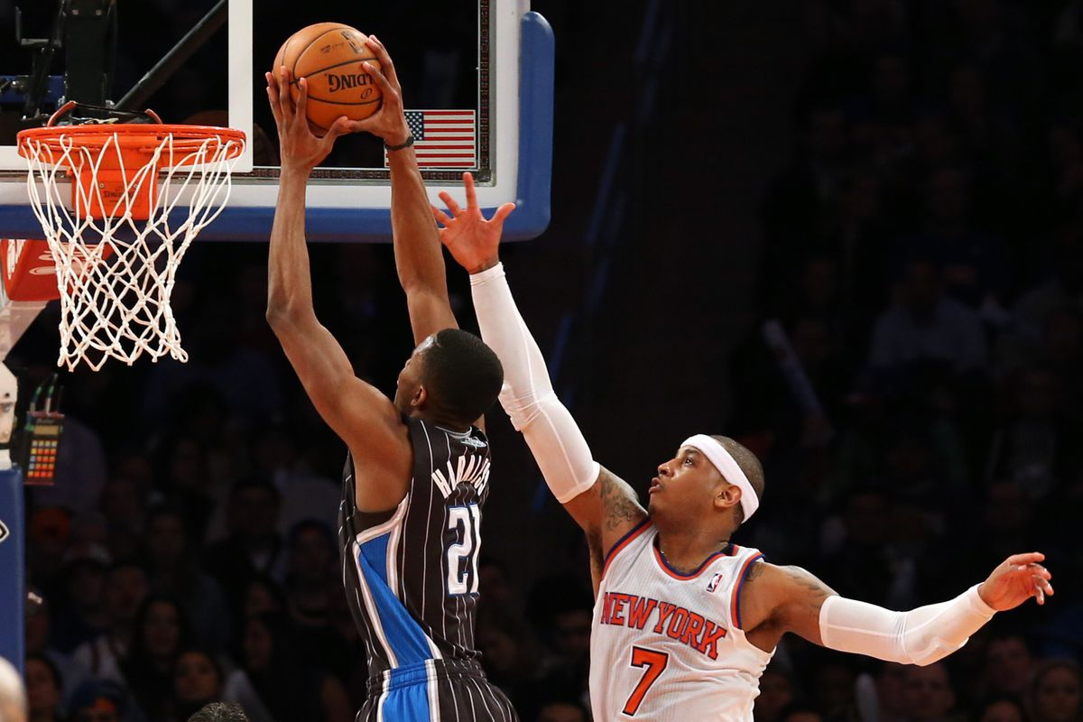 Maurice Harkless and Carmelo Anthony