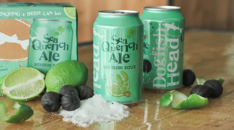 Dogfish Head Craft Breweryconsulted with the former director of the Gatorade Sports Science Institute indevelopingSeaQuench Ale(4.9% ABV, 140 calories, 9g carbs, 2g protein and 0g fat per 12 oz. serving), Ingredients include sea salt from Maine and the Chesapeake Bay, black limes and electrolytes (calcium, chloride, magnesium, potassium and sodium).