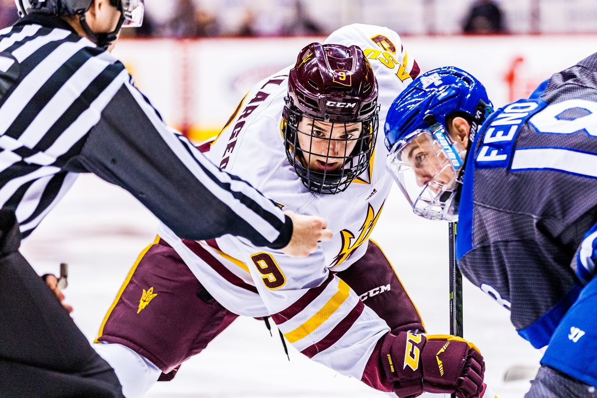 ASU in action against the Air force in the NCAA game at  Gila River Arena in Glendale, Ariz. October 16, 2016.